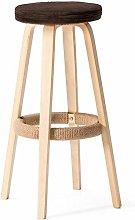 hsj WDX- Taburete de barra de madera maciza