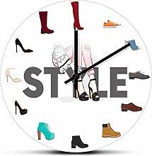 hufeng Reloj de Pared Varios Zapatos Imprimir