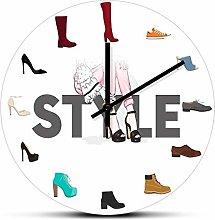 hufeng Reloj de Pared Varios Zapatos Reloj de