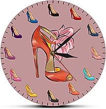 hufeng Reloj de Pared Zapatos de Mujer Reloj de