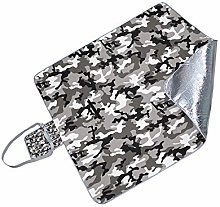 HUI JIN Manta de picnic de camuflaje gris