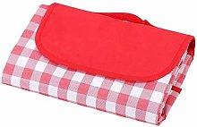 HUI JIN Manta impermeable para pícnic, color rojo