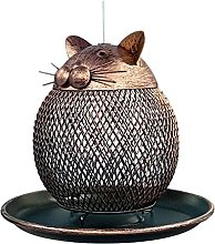 HUIJUAN Pajarera colgante en forma de gato,