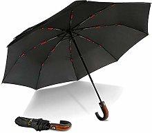 HUTIANTIAN Paraguas automático de Estilo inglés