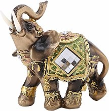 Hztyyier Elefante Verde Lucky Feng Shui Estatua