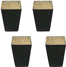 HZYDD Patas cónicas para sofá de madera maciza,