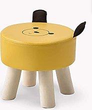 HZYDD Taburete de madera maciza y taburete para