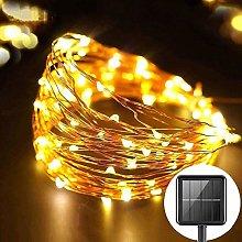Ibello Guirnaldas Luces Exterior Solar 100 LED
