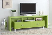 Iberodepot - Mesa de televisión 2 cajones verde