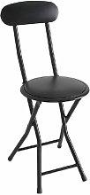 Iberodepot - Taburete silla plegable Negra