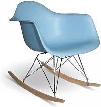 Iconscorner - Silla Balancín mecedora azul