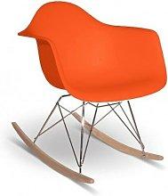 Iconscorner - Silla balancín mecedora naranja