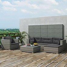 idyard Conjunto Muebles de Jardín de Ratán 17