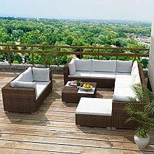 idyard Conjunto Muebles de Jardín de Ratán 32