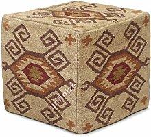 iinfinize Funda de puf otomana india vintage