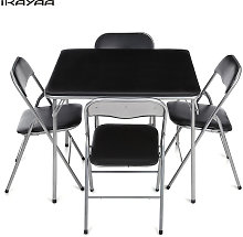 iKayaa 5PCS Juego de sillas de mesa de comedor de