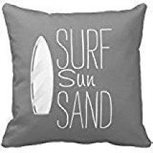 iksrgfvb Surf Sun Sand Funda de Almohada Funda de