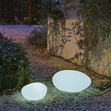 Iluminación decorativa en forma de piedra 60