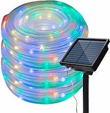 IMAGE Manguera led solar de color RGB 13M 100leds,
