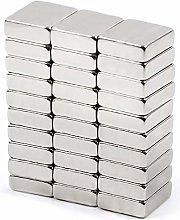 Imán De Neodimio 10 X 10 X 2 Mm [30 Unidades]: