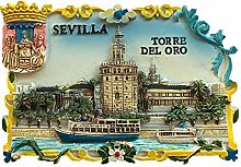 Imán de nevera 3D Torre del Oro Sevilla España