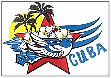 Imán para nevera con diseño de pájaro cubano