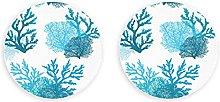 Imanes de criaturas marinas de coral colorido mar