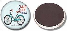 Imanes de Nevera Bicicleta vintage 30 mm