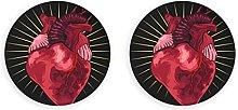 Imanes de nevera de corazón de anatomía humana