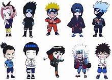 Imanes de nevera Naruto con figuras de Chibi