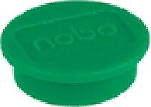 Imanes NOBO para pizarra, 24mm, 10 unidades, verde