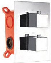 Imex® - Grifo termostático empotrado de 3 vías