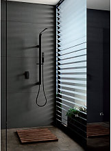 Imex® - Kit de ducha empotrado negro Bahamas Imex