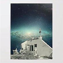Impresiones en lienzo del espacio cósmico,