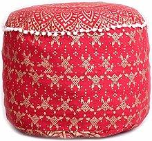Indian rojo Ombre Mandala futbolín redondo