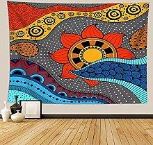 Indio Mandala Tapiz Colgante de Pared Sol Tela de