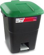 Industrias Tayg - Cubo pedal eco tapa verde 50