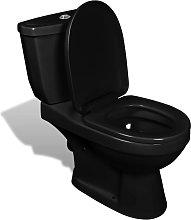 Inodoro WC con cisterna negro - Negro