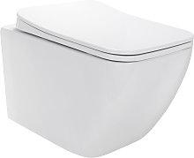 Inodoros Cube suspendidos de cerámica sin borda,