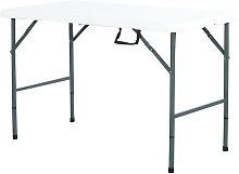 Interouge - Mesa plegable 122cm Polietileno Tapa