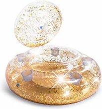 Intex 56810NP - Nevera Hinchable Oro con Purpurina