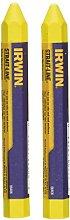 IRWIN 666062 - Lápiz de cera amarillo, 2 uds. en
