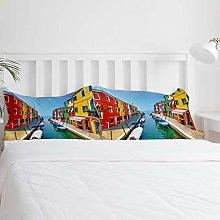 Italia Venecia Colorful Island Juego de funda
