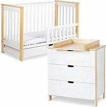 IWO - Juego de cambiador y cama para bebé
