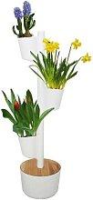 Jardín vertical Aromaticas color blanco 3 macetas