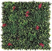 Jardín vertical villa imitación flores