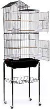 Jaula de pajarera para pájaros loros en metal y
