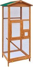 Jaula para pájaros de madera 65x63x165 cm -