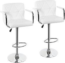 Jeobest - 2 x silla de bar con reposabrazos,