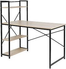 Jeobest - Mesa de escritorio con estantería,
